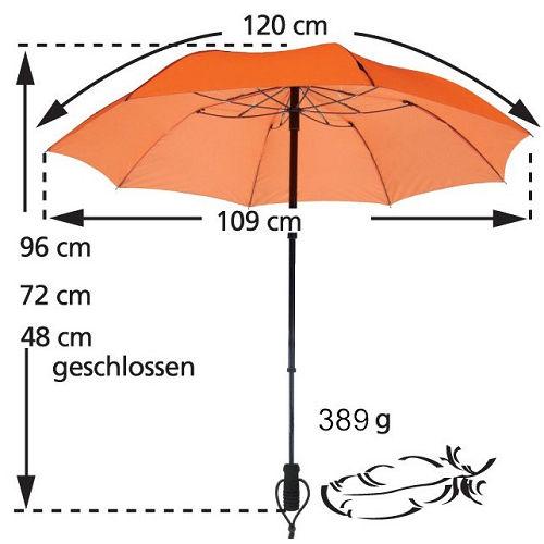 德國[EuroSCHIRM] 全世界最強雨傘 TELESCOPE HANDSFREE / 免持健行傘 小(紅)
